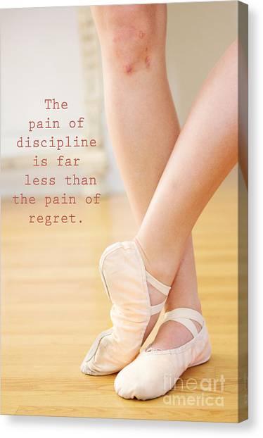 The Pain Of Discipline Canvas Print