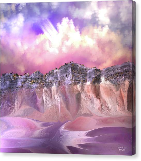 The Painted Sand Rocks Canvas Print