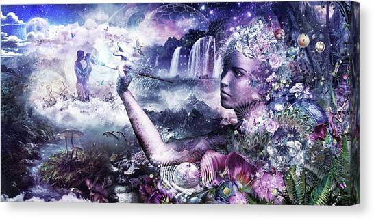 Surreal Digital Art Canvas Print - The Painter by Cameron Gray