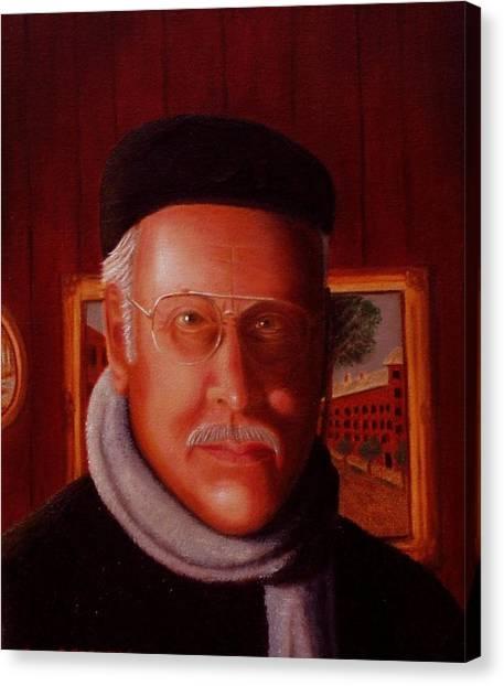 The Painter. Self Portrait Canvas Print