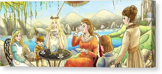 The Palace Garden Tea Party II Canvas Print