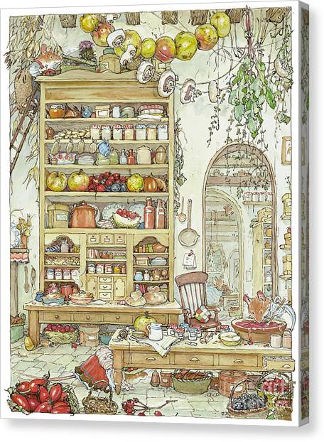 Countryside Canvas Print - The Palace Kitchen by Brambly Hedge