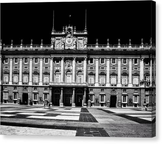 Real Madrid Canvas Print - The Palacio Real, Madrid  by Connie Handscomb