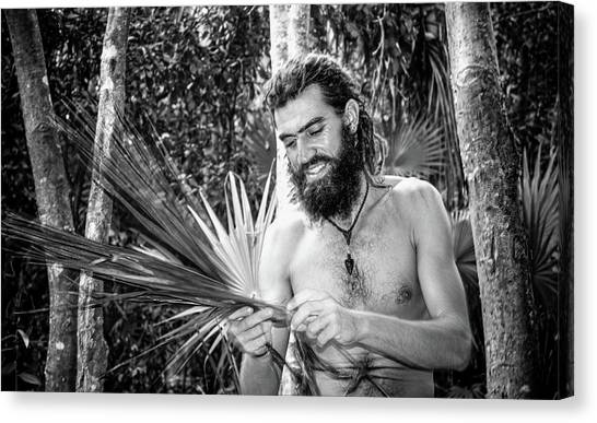 The Palm Frond Weaver Canvas Print