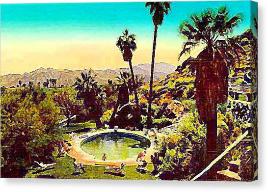 The Palm Springs Tennis Club Canvas Print