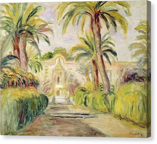 Pierre-auguste Renoir Canvas Print - The Palm Trees by Pierre Auguste Renoir