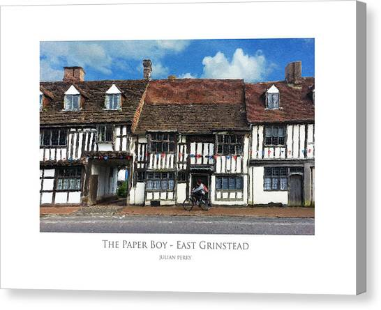 The Paper Boy - East Grinstead Canvas Print