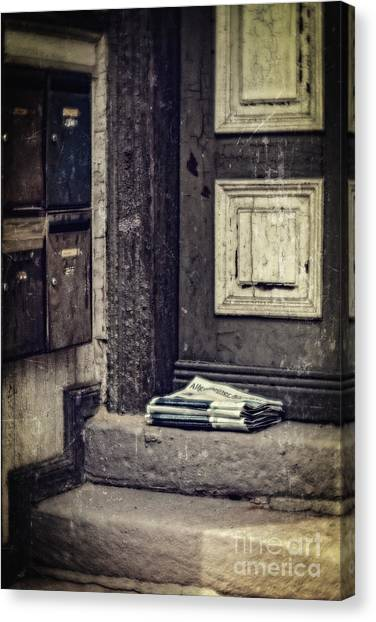 The Paper Boy Was There. Canvas Print