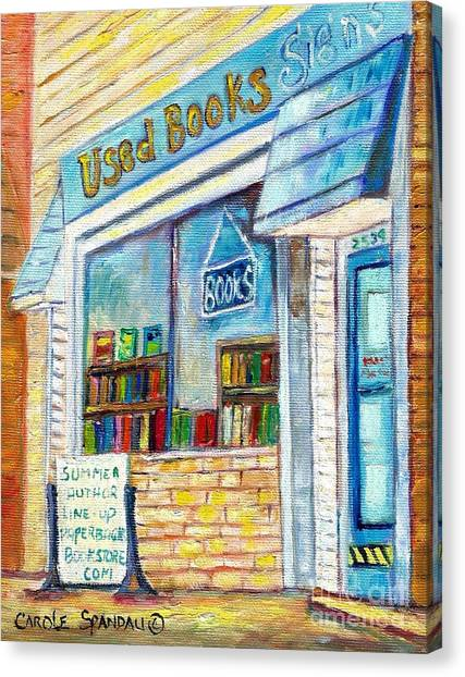 The Paperbacks Plus Book Store St Paul Minnesota Canvas Print