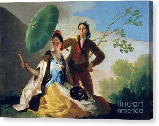 Lover Canvas Print - The Parasol by Goya