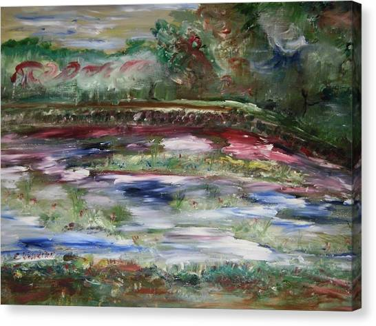 The Park Beneath The Rainbow Canvas Print by Edward Wolverton