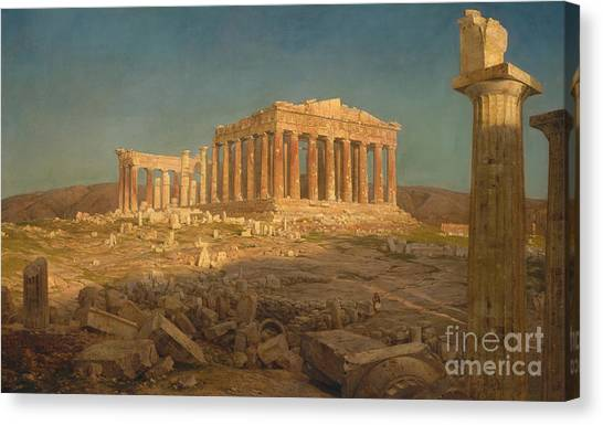 Athens Canvas Print - The Parthenon, 1871 by Frederic Edwin Church