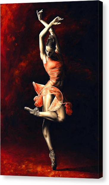 Lady Canvas Print - The Passion Of Dance by Richard Young