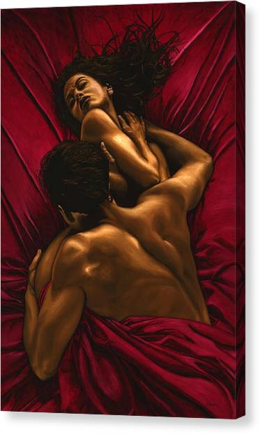 Nudes Canvas Print - The Passion by Richard Young