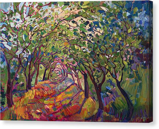 Bold Canvas Print - The Path by Erin Hanson
