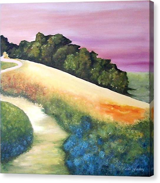 The Path Over The Hill Canvas Print by Carola Ann-Margret Forsberg