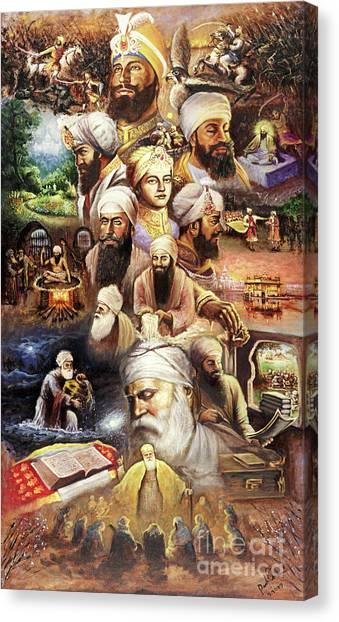 Sikh Canvas Print - The Path by Raman Singh