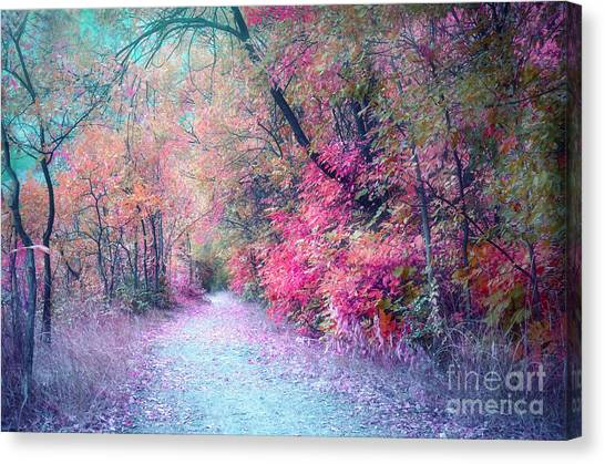 The Pathway Of Gentle Memories Canvas Print