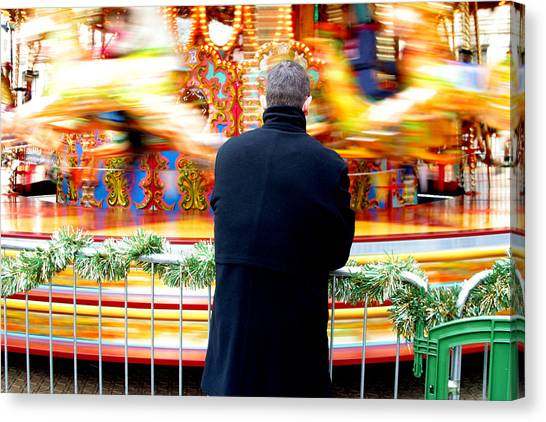 The Patient Father Canvas Print by Jez C Self