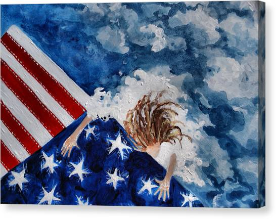 The Patriot Returns Home Canvas Print by Mary Sonya  Conti