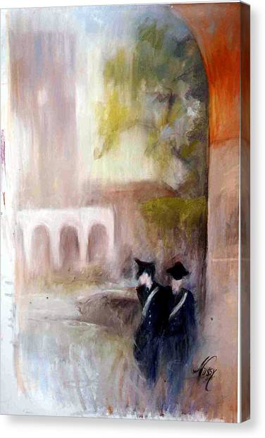 The Patrol In Pomezia Canvas Print by Elisabeth Nussy Denzler von Botha