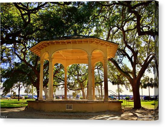 The Pavilion At Battery Park Charleston Sc  Canvas Print