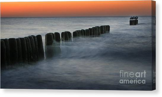 The Peaceful Sea Canvas Print by Angel Ciesniarska