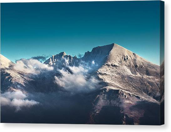 Backpacks Canvas Print - The Peak by Ivan Vukelic