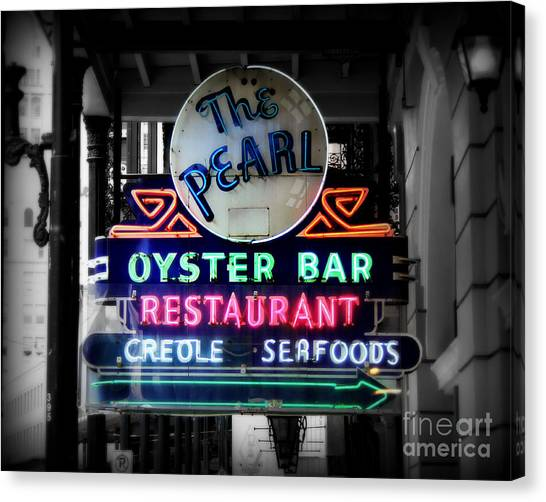 Oysters Canvas Print - The Pearl by Perry Webster