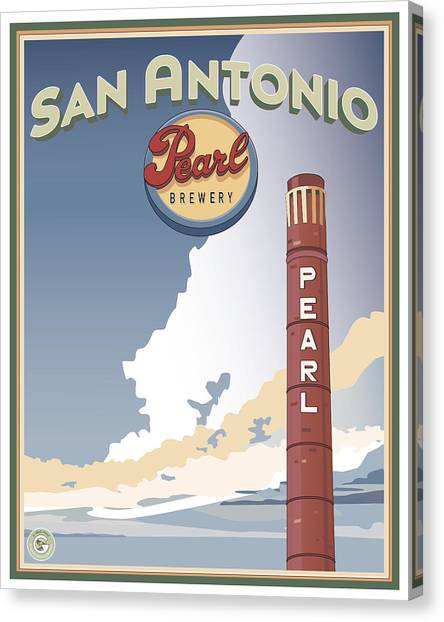 The Pearl Smokestack Canvas Print