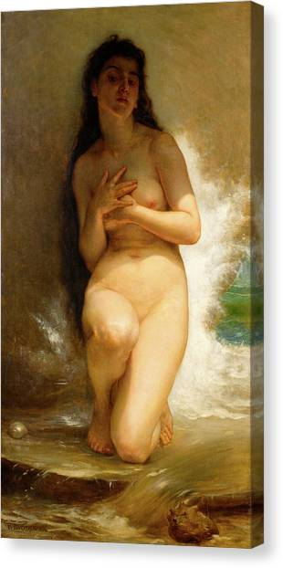 Academic Art Canvas Print - The Pearls by William Adolphe Bouguereau