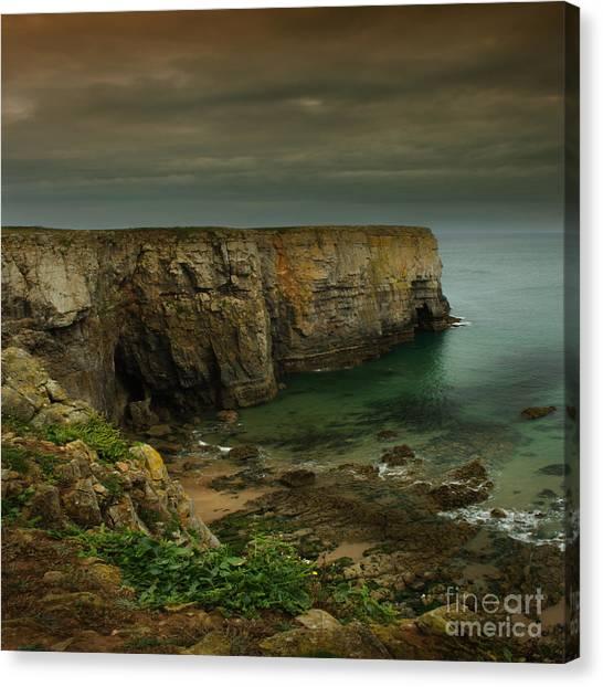 The Pembrokeshire Cliffs Canvas Print by Angel Ciesniarska