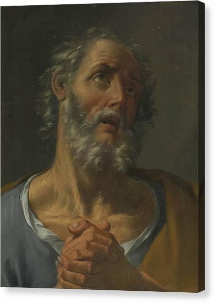 Rococo Art Canvas Print - The Penitent St Peter by Donato Creti