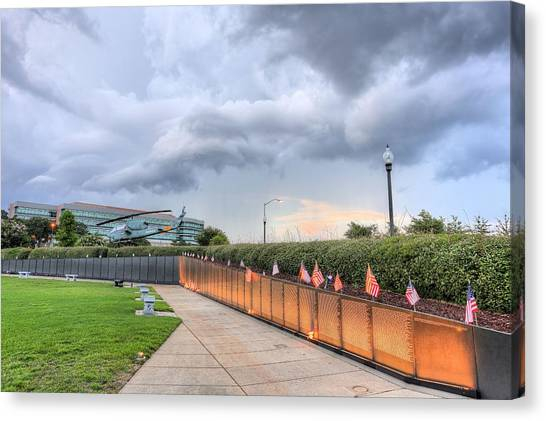 The Pensacola Vietnam Wall Canvas Print by JC Findley