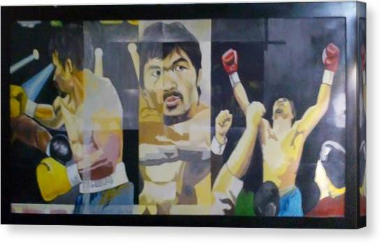 Manny Pacquiao Canvas Print - The People's Champ by Lander Blanza