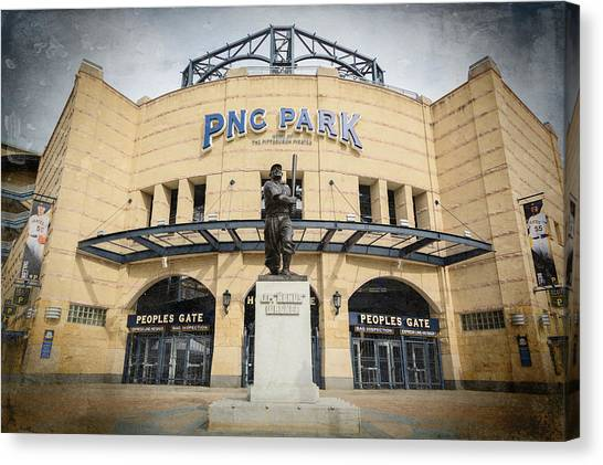 Roberto Clemente Canvas Print - The Peoples Gate - Pnc Park #2 by Stephen Stookey