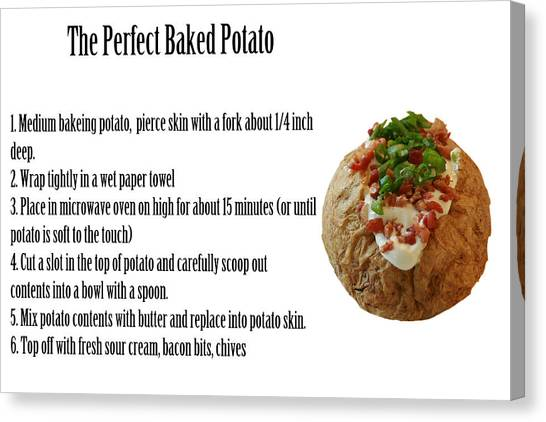 Scallions Canvas Print - The Perfect Baked Potato by Michael Ledray