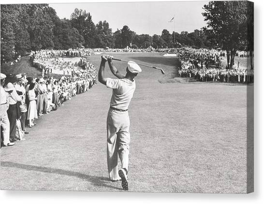 Arnold Palmer Canvas Print - The Perfect Golf Swing Ben Hogan Golf by Peter Nowell