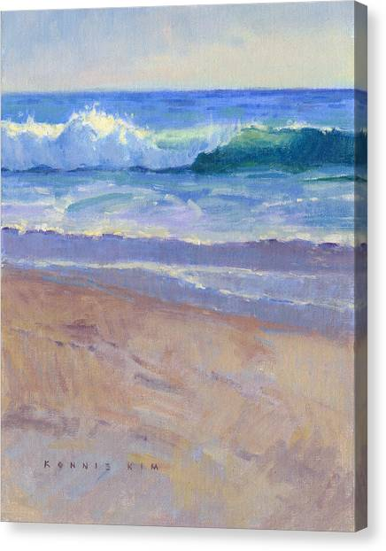 Canvas Print featuring the painting The Healing Pacific by Konnie Kim
