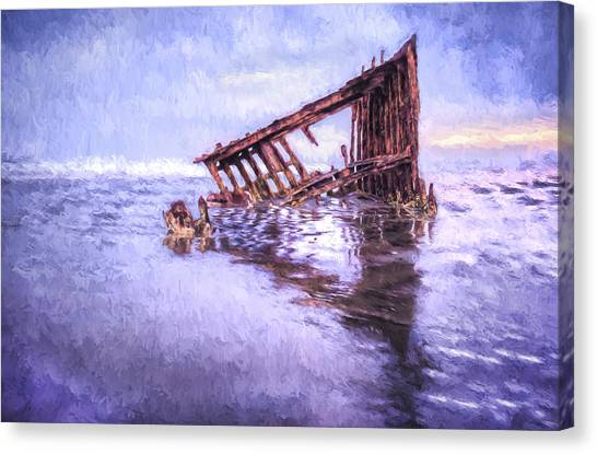 A Stormy Peter Iredale Canvas Print