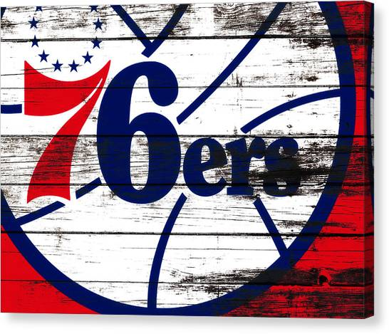 Magic Johnson Canvas Print - The Philadelphia 76ers 3e       by Brian Reaves