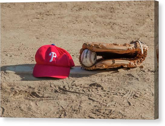 Philadelphia Phillies Canvas Print - The Philadelphia Phillies Baseball by Bill Cannon