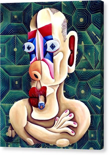 The Philosopher Canvas Print by Tak Salmastyan