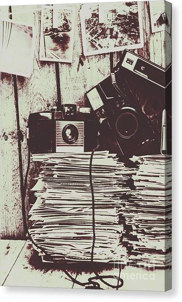 Vintage Camera Canvas Print - The Photo Room by Jorgo Photography - Wall Art Gallery