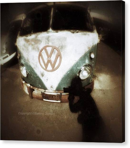 Vw Bus Canvas Print - The Photographer  by Steven Digman