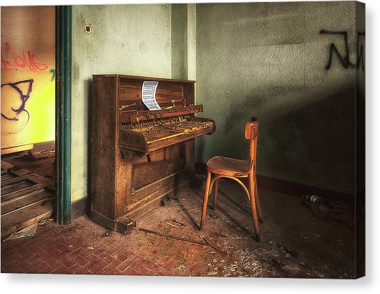 The Piano Canvas Print
