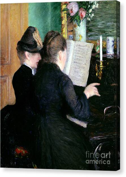 Pianos Canvas Print - The Piano Lesson by Gustave Caillebotte