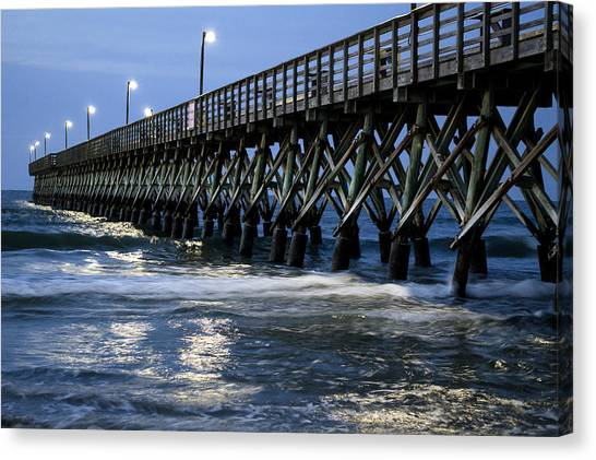 The Pier At The Break Of Dawn Canvas Print