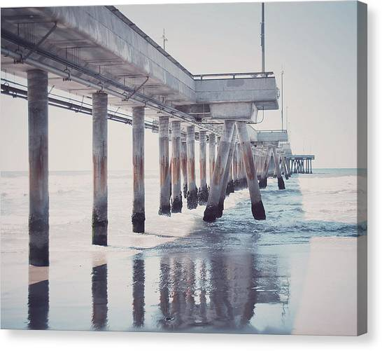 Venice Beach Canvas Print - The Pier by Nastasia Cook