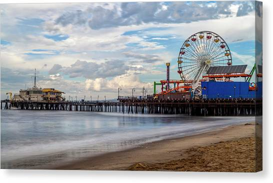 The Pier On A Cloudy Day Canvas Print